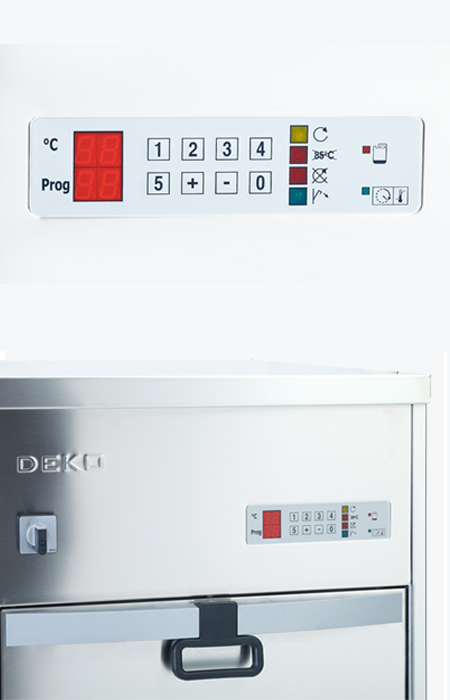 Image Of bedpan washer control panel