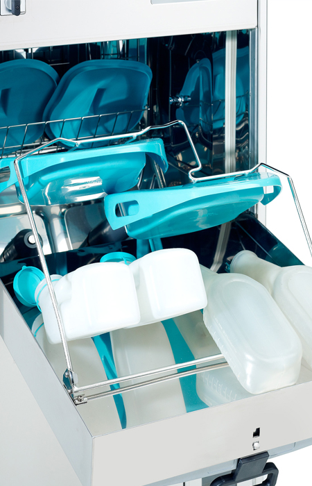 Image Of bedpan washer tray full